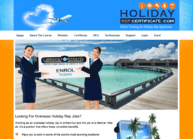 holidayrepcertificate.com