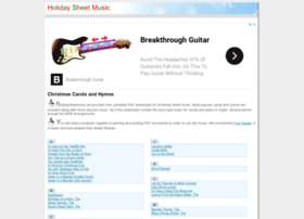 holidaysheetmusic.net