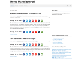 homemanufactured.info