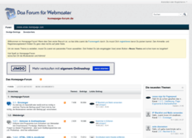 homepage forum de homepage forum de hilfe fuer webmaster powered by