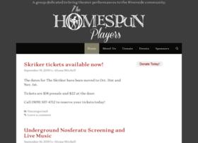 homespunplayers.com