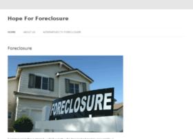 hopeforforeclosure.com