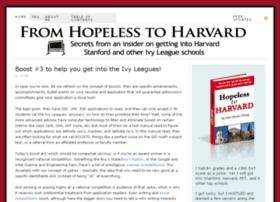 hopelesstoharvard.com