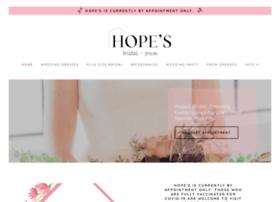 hopesbridal.com