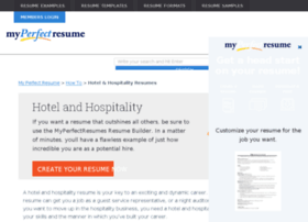 hospitality.myperfectresume.com
