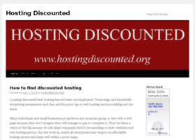 hostingdiscounted.org