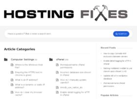 hostingfixes.com