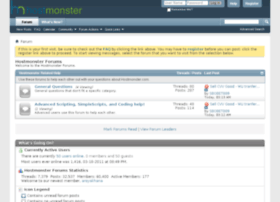 hostmonsterforum.com