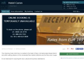 hotel-caron-paris.h-rsv.com