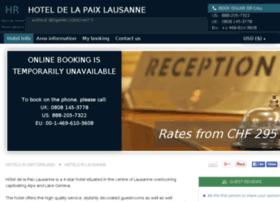 hotel-de-la-paix-lausanne.h-rsv.com