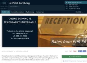 hotel-le-petit-kohlberg.h-rez.com