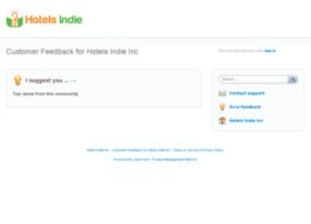 hotelsindie.uservoice.com