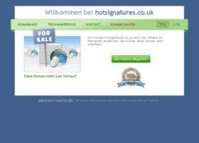 hotsignatures.co.uk