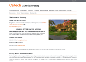 housing.caltech.edu
