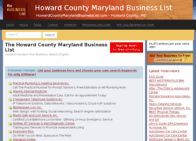 howardcountymarylandbusinesslist.com