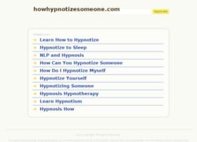howhypnotizesomeone.com