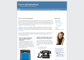howtocallinternationally.com