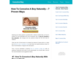 howtoconceiveaboynaturally.com