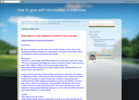 howtogiveselfintroductionininterview.blogspot.in