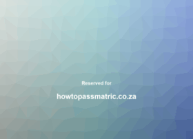 howtopassmatric.co.za