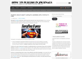 howtopublishinjournals.com