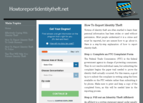 howtoreportidentitytheft.net