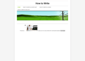howtowrite.weebly.com