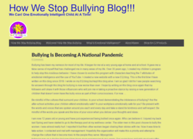 howwestopbullying.com