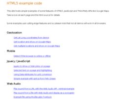 html5-examples.craic.com