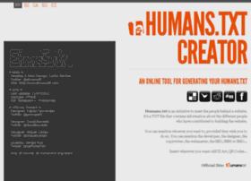 humanstxt-creator.org