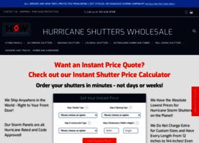 hurricaneshutterswholesale.com