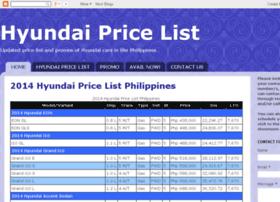 hyundaipricelist.blogspot.com