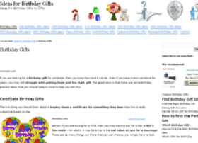 ideas-for-birthday-gifts.com