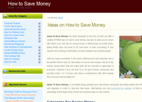 ideas-to-save-money.com