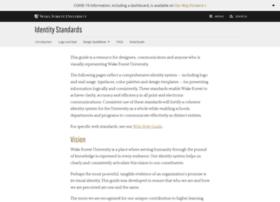 identitystandards.wfu.edu