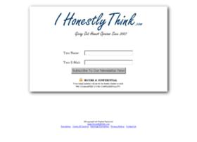 ihonestlythink.com