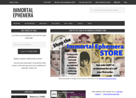 immortalephemera.com
