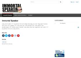 immortalspeaker.com