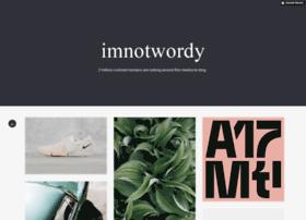 imnotwordy.com