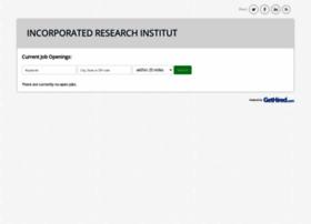 incorporatedresearchinstitutions.gethired.com