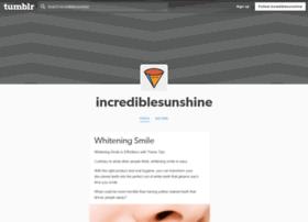 incrediblesunshine.tumblr.com