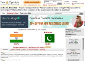 india-vs-pakistan.free-opinion.com