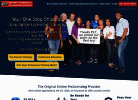 infinityschools.prelicensetraining.com