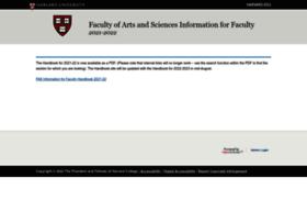 infoforfaculty.fas.harvard.edu