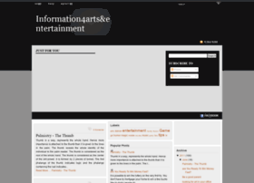 information4artsentertainment.blogspot.com