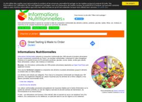 informationsnutritionnelles.fr