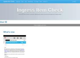ingress-item-check.appspot.com