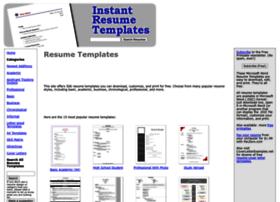 instantresumetemplates.com