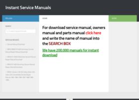 instantservicemanuals.com
