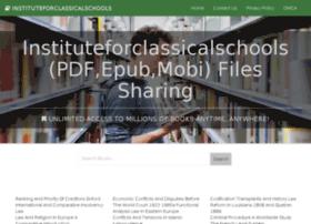 instituteforclassicalschools.org